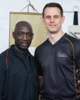 Russell Webster with UK Wing Chun Assoc. Senior teacher Master Eric Wilson