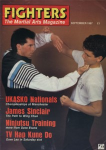 'Fighters' Magazine featured Wing Chun Master James Sinclair on their front cover and lead interview in Sept 1987