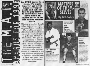 James Sinclair Awarded Master Status 1998 by Martial Arts Illustrated