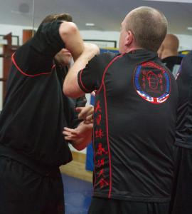 UKWCKFA Wing Chun training T-Shirt is perfectly designed for Chi Sau practice.
